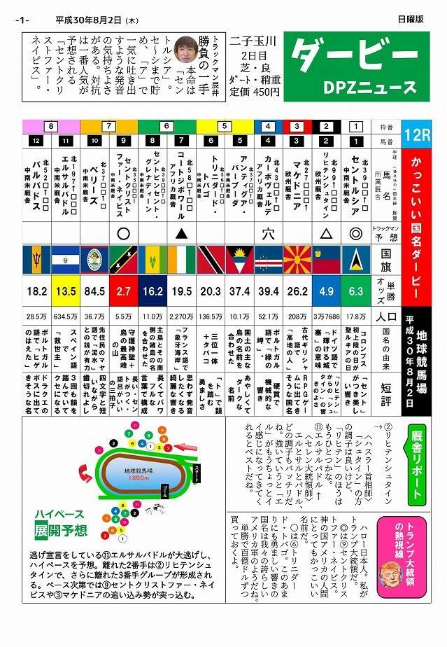 ダービーDPZニュース(450円)、第3号にして最終号である。廃刊!