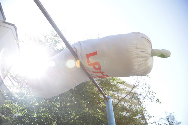 逆上がりを初成功させたガス容器みたいな写真が撮れました