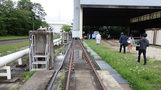 移動のレールはしっかりと鉄道のレールである。萌えー
