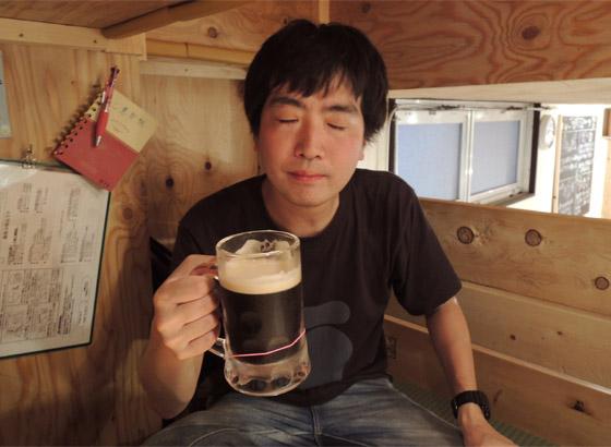 黒ビールも最高……