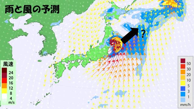 台風13号は、今週後半には東海上へ抜ける予想だが…。