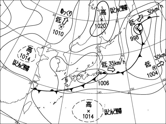 2014年8月26日。気象庁天気図。