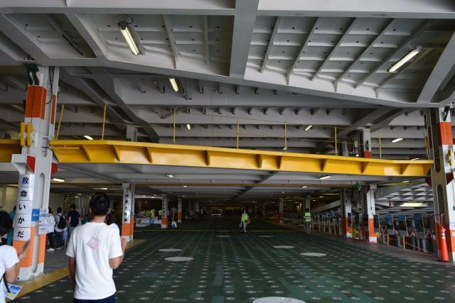 この黄色い部分が上下に動かせる。天井を動かすには特殊車両(リフタブルカー)を使う。