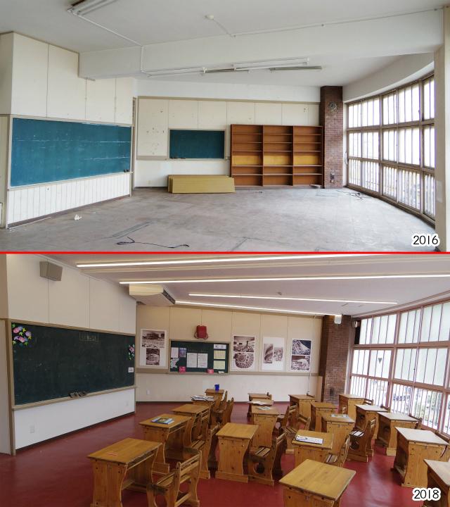 とにかく明るい教室、人が戻ってきた感すごい