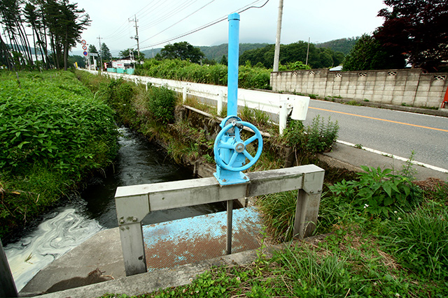 ちなみに僕の「水モノ好き」の原点はこういう小さな水門です
