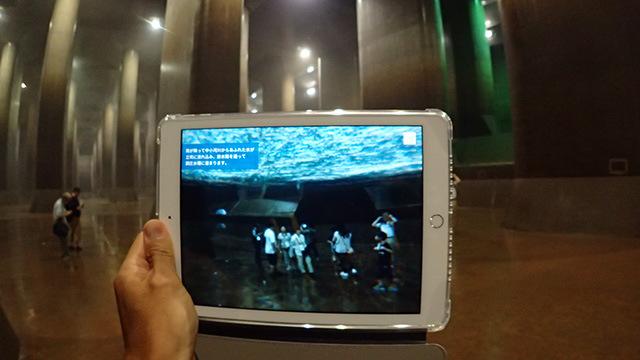 そして次の瞬間には水の底である。正直怖いけれど、これを見ることでこの施設の役割がよくわかった。