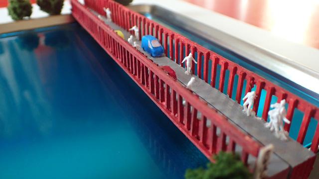 これは、わたしの心の中にある橋の三次元化です