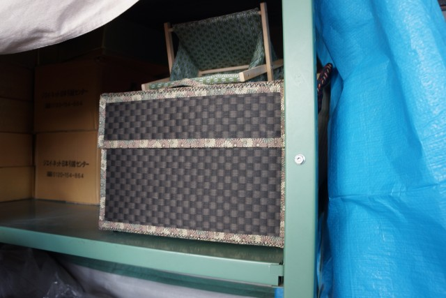 ヴィトンかと見まごう畳トランク。