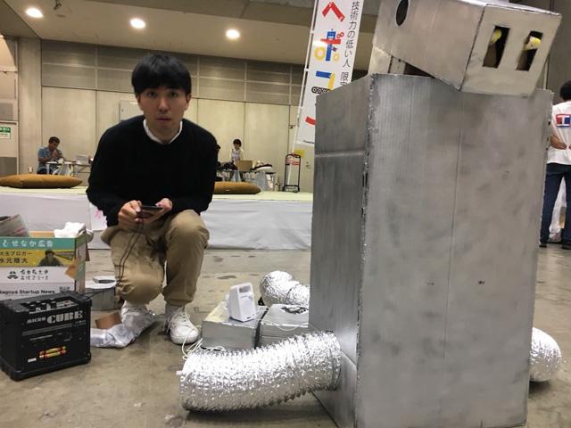 ロボットを出て休憩しているときは「壊れたロボットを直している人」になっていたのでバレてないはず