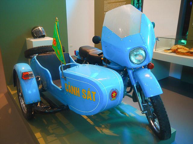 それに使われたというバイクが展示されていた