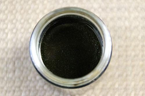 クルミの産毛が浮いていた。黒を通り越してインクのような青さすら感じる。