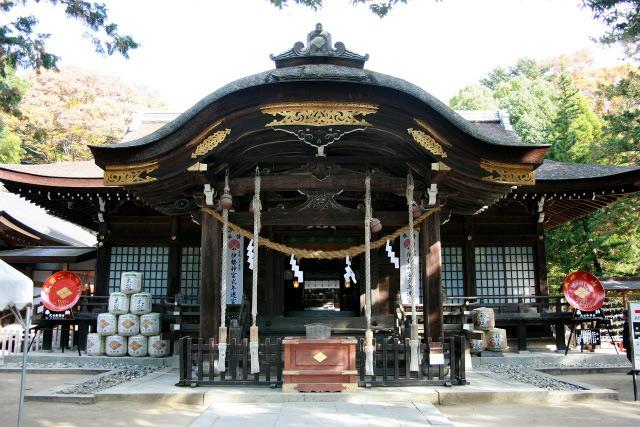 こちらは武田信玄が住んでいた「武田氏館」、今は武田神社の境内だ