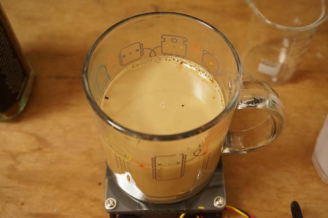 4.カフェオレの完成