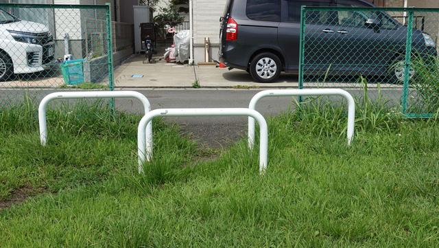 近くに低い柵があったのでこちらでやってみた。
