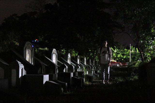 そんな墓場で撮影する…の、ですが。