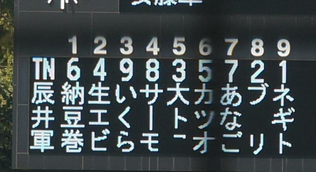 ドーン。しかし、4文字目以降が切れている(なお左の4番と5番の名前部分が多少欠けているのは、機器の問題)