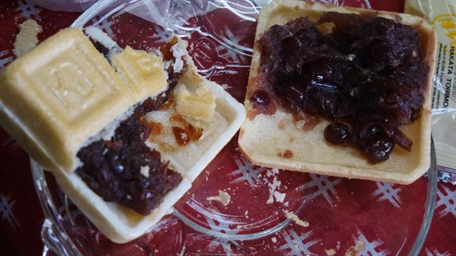 最中のあんこだけを食べ比べたりしてみたのだが、和菓子屋さんはやっぱり皮についても言及していた