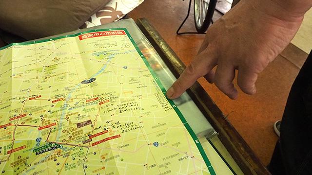 マップのギリギリの所。
