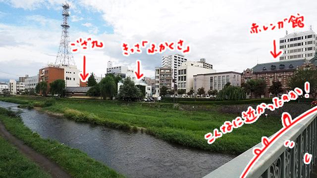 バラバラに行ってたけど、お薦めされた場所が川沿いに3つも並んでいた。