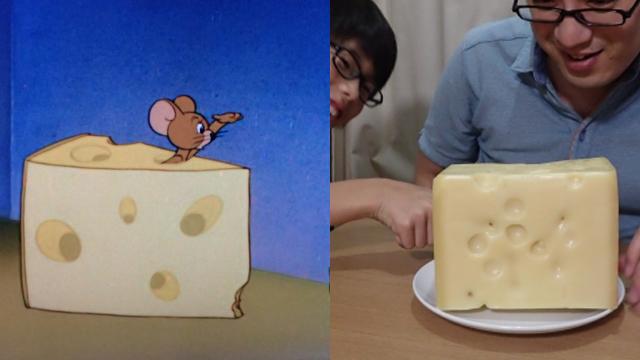 絵みたいなチーズを買った! という記事もありました</a>