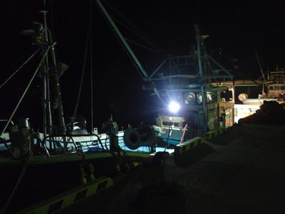 磯で採るのは(法的に)困難と判断。漁船を頼ることに。
