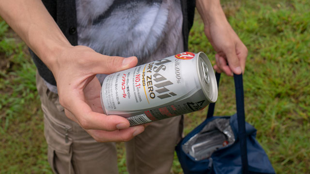 というわけで、ノンアルコールビールを飲みながらやってみてもらう。
