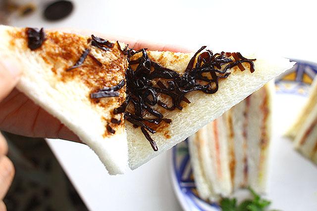こんぶサンドイッチ。
