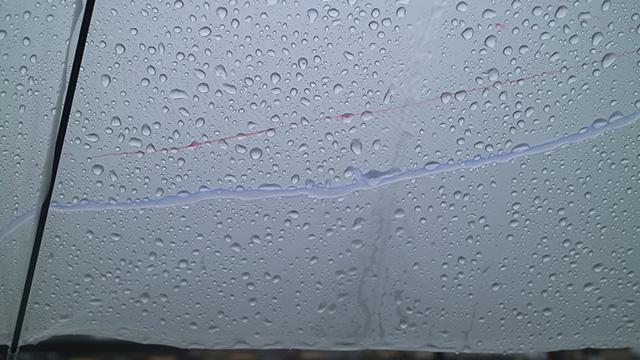 うまい具合に盛り上がりに雨が流れてくれました!