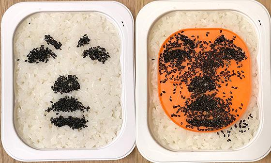 シュガーカットのキャラ弁テンプレート。食品関係のアイデアも秀逸(Photo:大村卓)