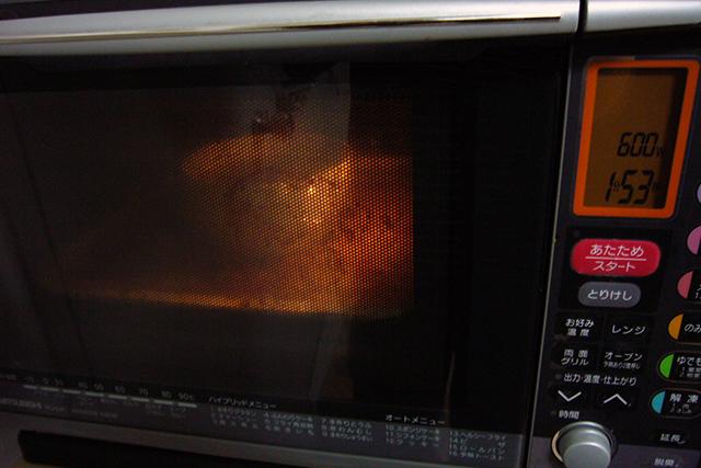 砂糖も溶かしたらレンジで数分加熱