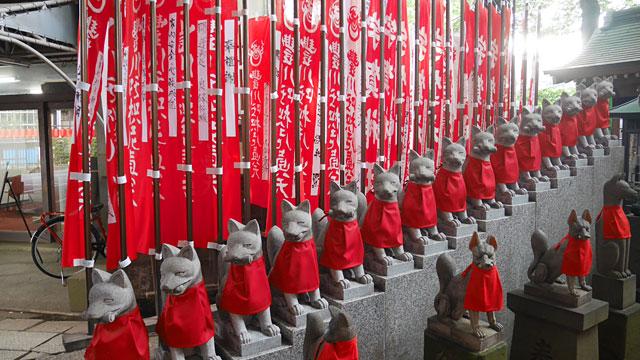 こちらは荼枳尼天を祀る、豊川稲荷(東京別院)