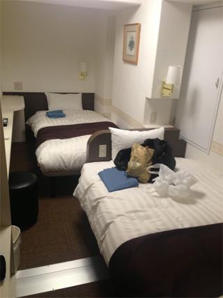 ツインの部屋を予約したらベッドが縦に並んでいることがあった