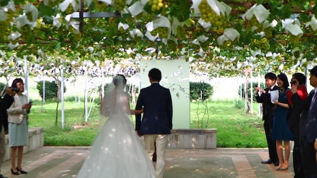 金沢「ぶどうの木」で行われた結婚式