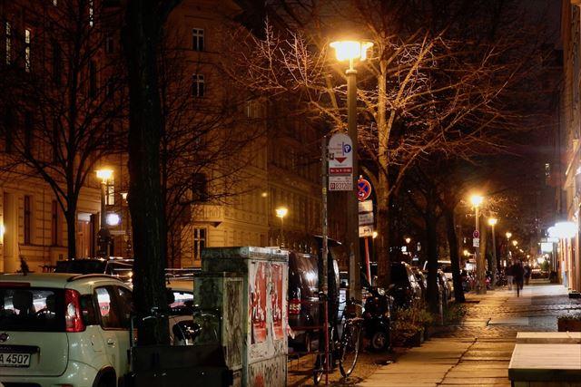 旧東ベルリン地区の代表的な街灯