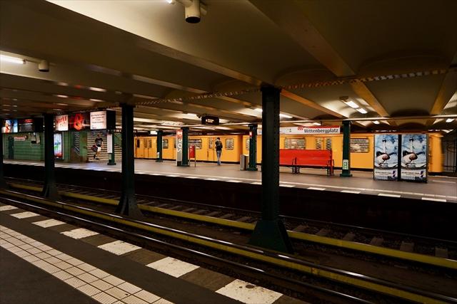 旧西ベルリンの駅へ到着