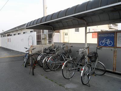 自転車置き場付き物置